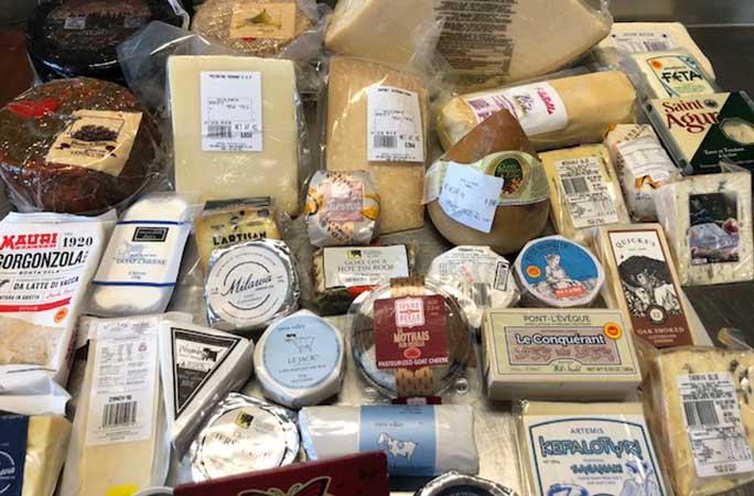 Les fromages utilisés pour le record mondial