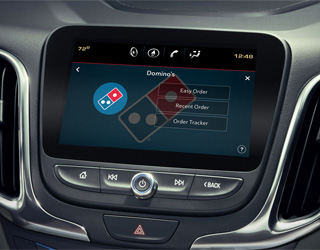 dominos application en voiture
